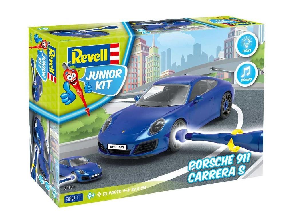 1/20 Junior Kit auto 00821 - Porsche 911 Carrera S (světelné a zvukové efekty)