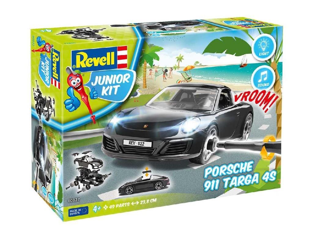 1/20 Junior Kit auto 00822 - Porsche 911 Targa 4S (světelné a zvukové efekty)