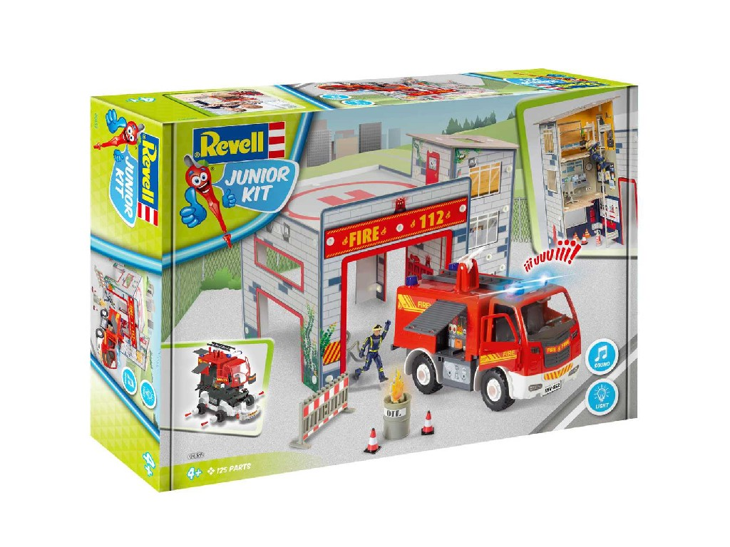 1/20 Junior Kit playset 00852 - Fire Truck and Fire Station