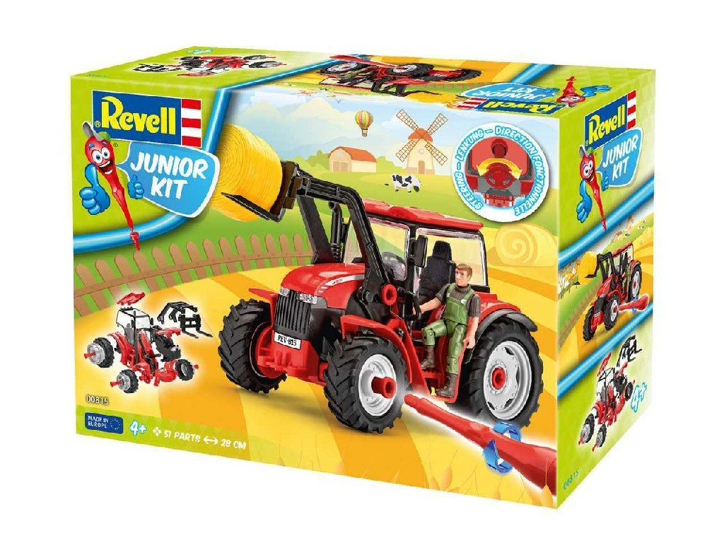 1/20 Junior Kit traktor 00815 - Tractor with loader incl. figure