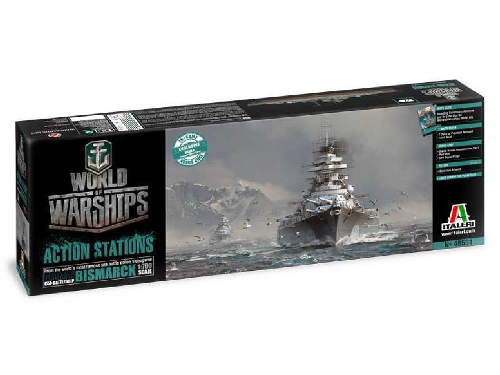 1/700 Plastikový model - World of Warships 46501 - GERMAN BATTLESHIP BISMARCK