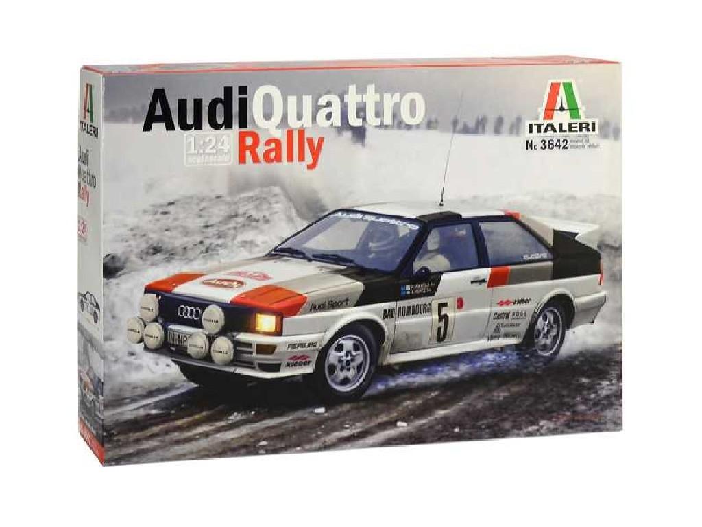 1/24 Plastikový model - auto 3642 - Audi Quattro Rally
