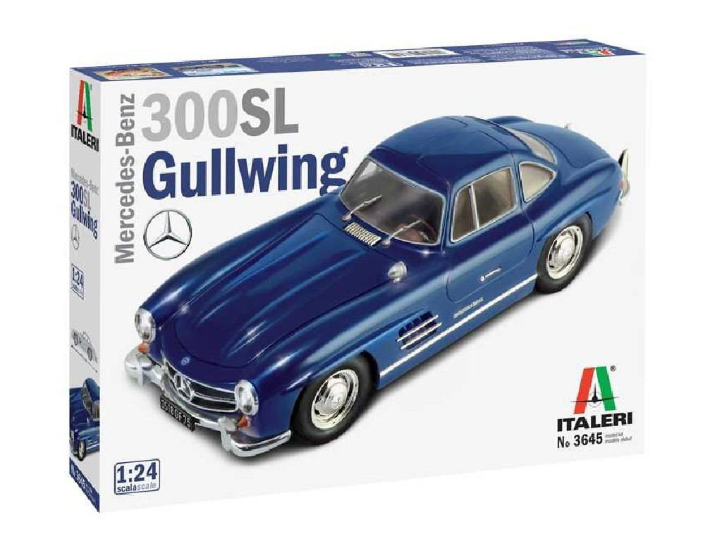 1/24 Plastikový model - auto 3645 - Mercedes Benz 300 SL Gullwing