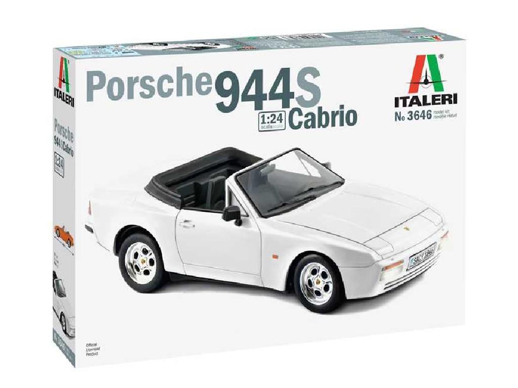 1/24 Plastikový model - auto 3646 - Porsche 944 S Cabrio