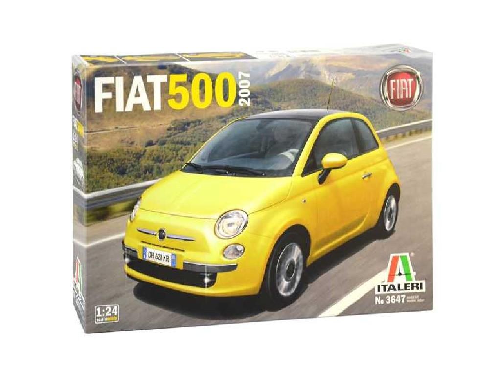 1/24 Plastikový model - auto 3647 - Fiat 500 (2007)