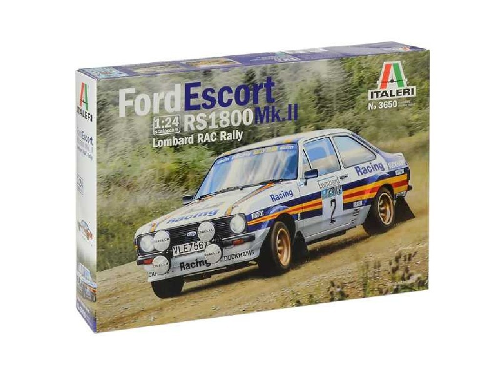 1/24 Plastikový model - auto 3650 - Ford Escort RS1800 MK.II Lombard RAC Rally
