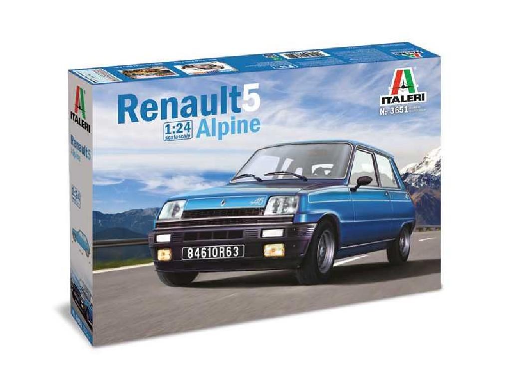 1/24 Plastikový model - auto 3651 - Renault 5 Alpine