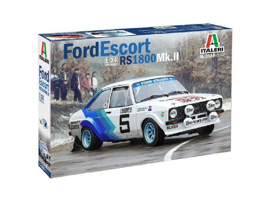 1/24 Plastikový model - auto 3655 - FORD ESCORT RS1800 Mk. II