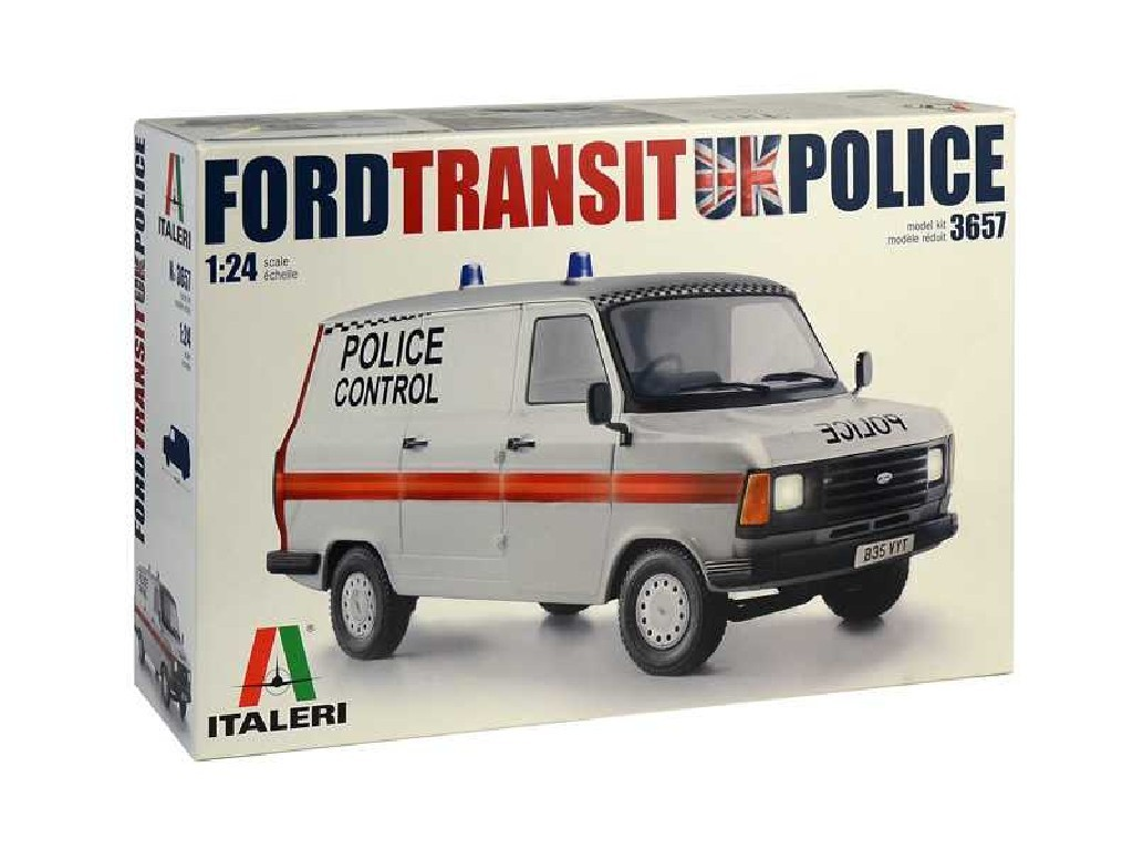 1/24 Plastikový model - auto 3657 - Ford Transit UK Police