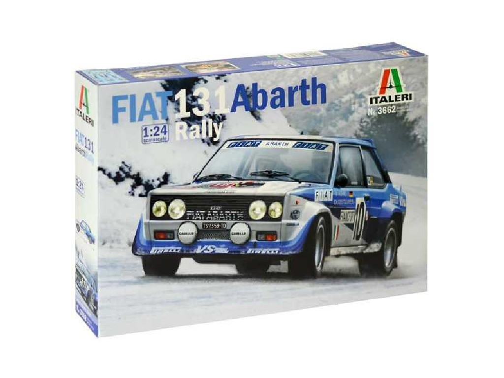 1/24 Plastikový model - auto 3662 - FIAT 131 Abarth Rally