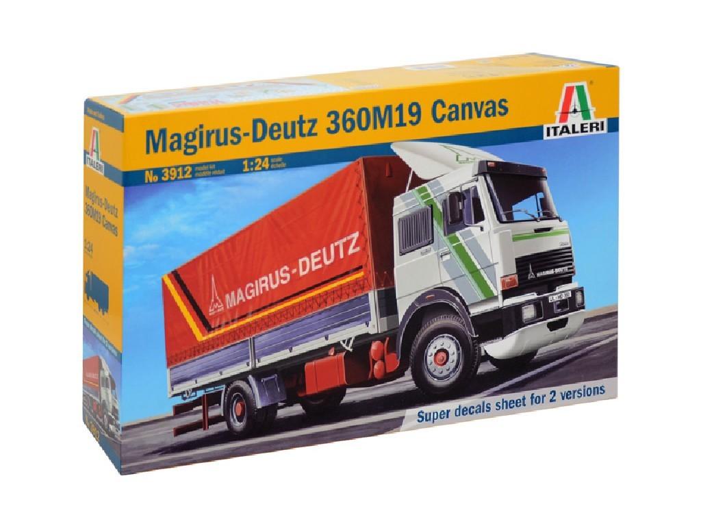 1/24 Plastikový model - auto 3912 - MAGIRUS DEUTZ 360M19 CANVAS