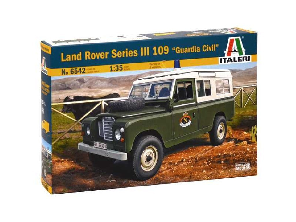 1/35 Plastikový model - auto 6542 – LAND ROVER III 109 Guardia Civil