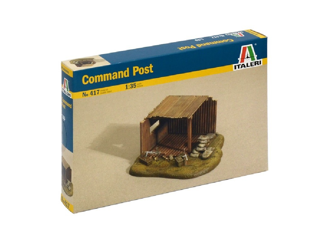 1/35 Model Kit budova 0417 - COMMAND POST