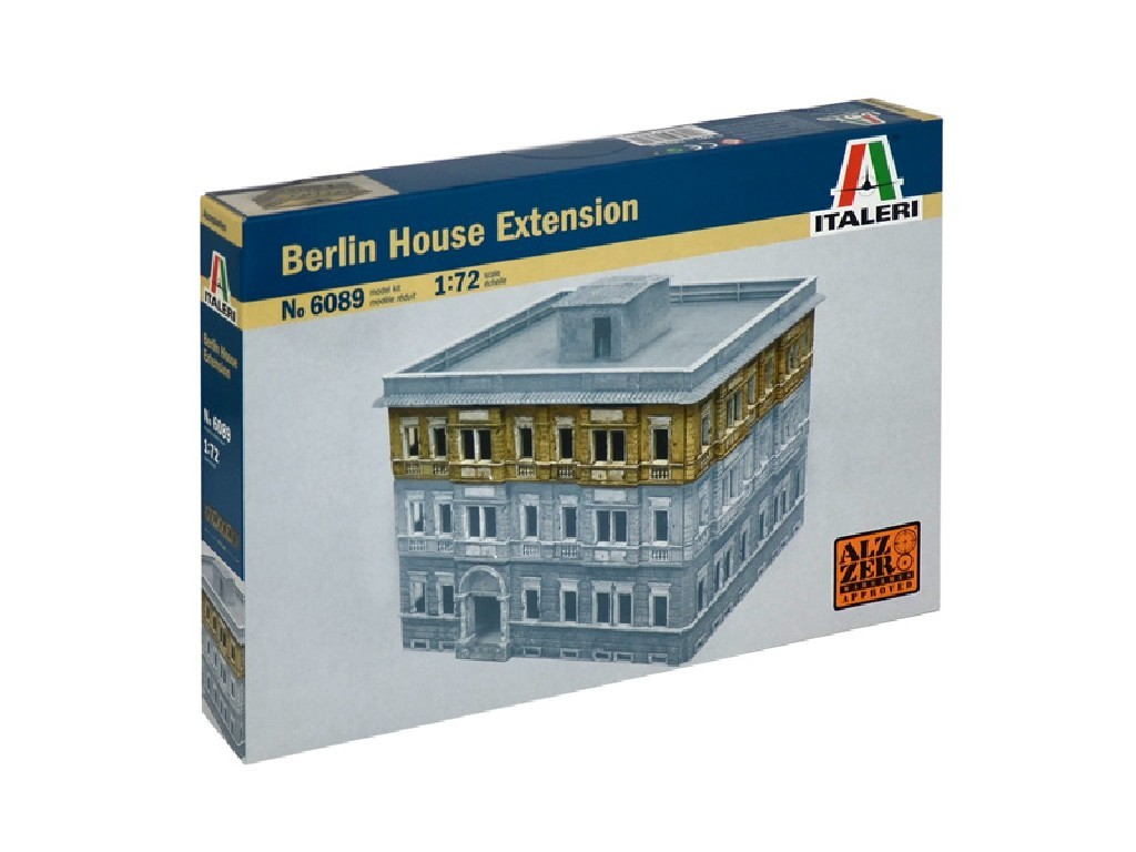 1/72 Model Kit budova 6089 - BERLIN HOUSE EXTENSION - 1 FLOOR