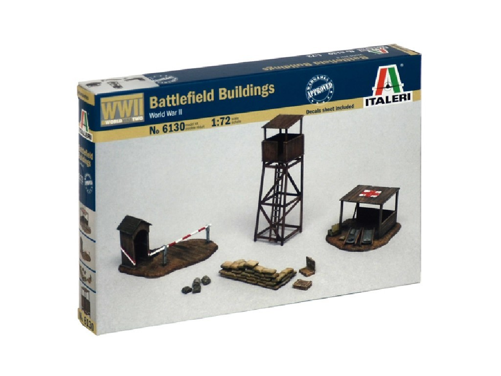 1/72 Model Kit budova 6130 - BATTLEFIELD BUILDINGS