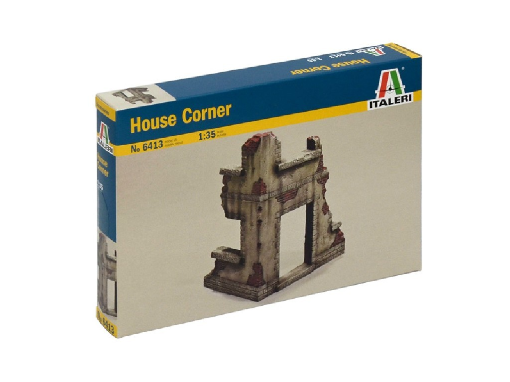 1/35 Model Kit budova 6413 - HOUSE CORNER