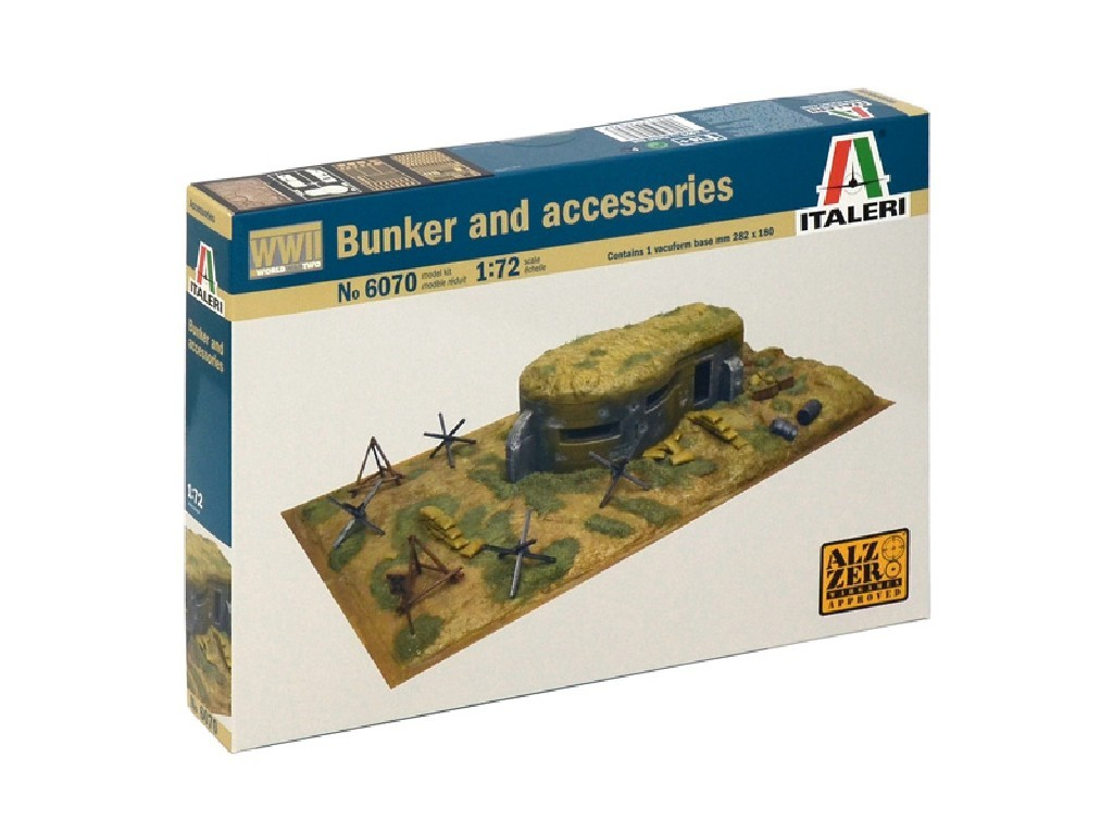 1/72 Model Kit diorama 6070 - WWII - BUNKER AND ACCESSORIES