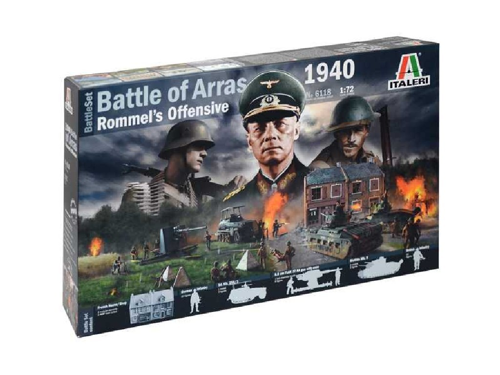 1/72 Model Kit diorama 6118 - WWII BATTLESET - Battle of Arras 1940 - Rommels Offensive