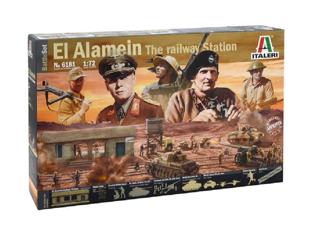 1/72 Model Kit diorama 6181 - EL ALAMEIN WAR - BATTLESET