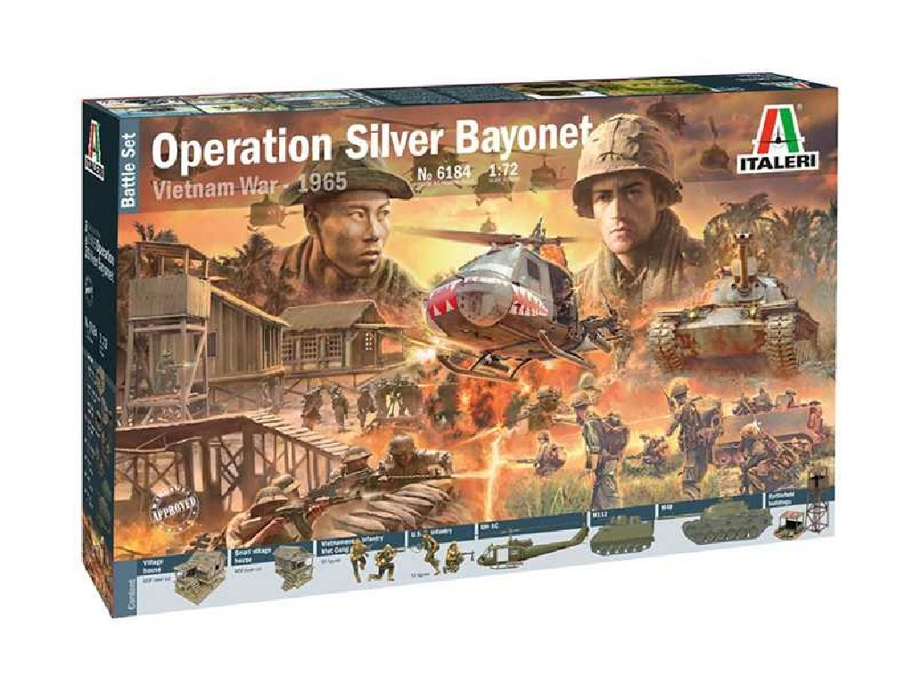 1/72 Model Kit diorama 6184 - Operation Silver Bayonet - Vietnam War 1965