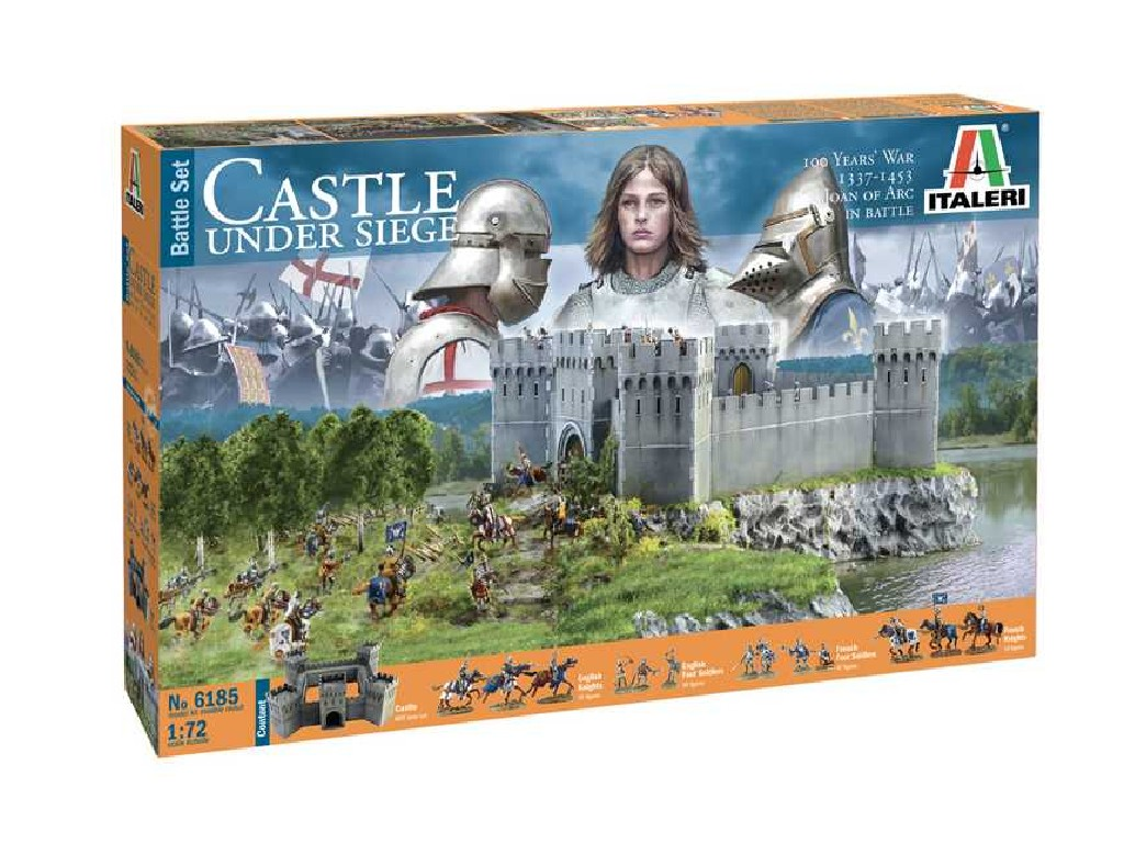 1/72 Model Kit diorama 6185 - 100 YEARS WAR Castle under siege