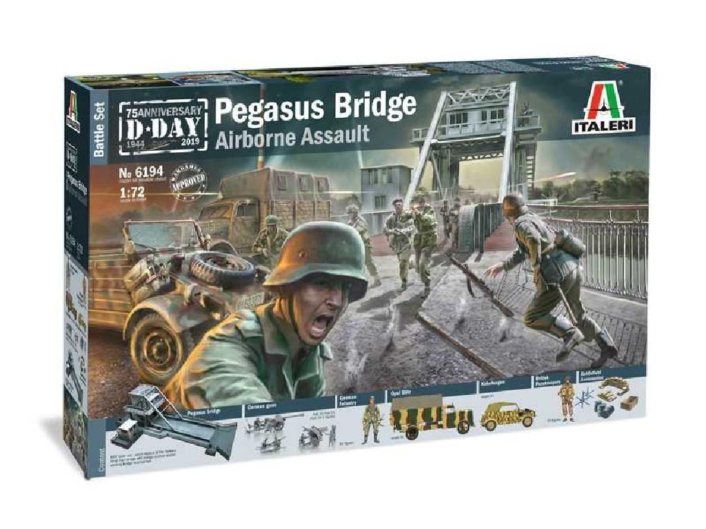 1/72 Model Kit diorama 6194 - Pegasus Bridge Airborne Assault
