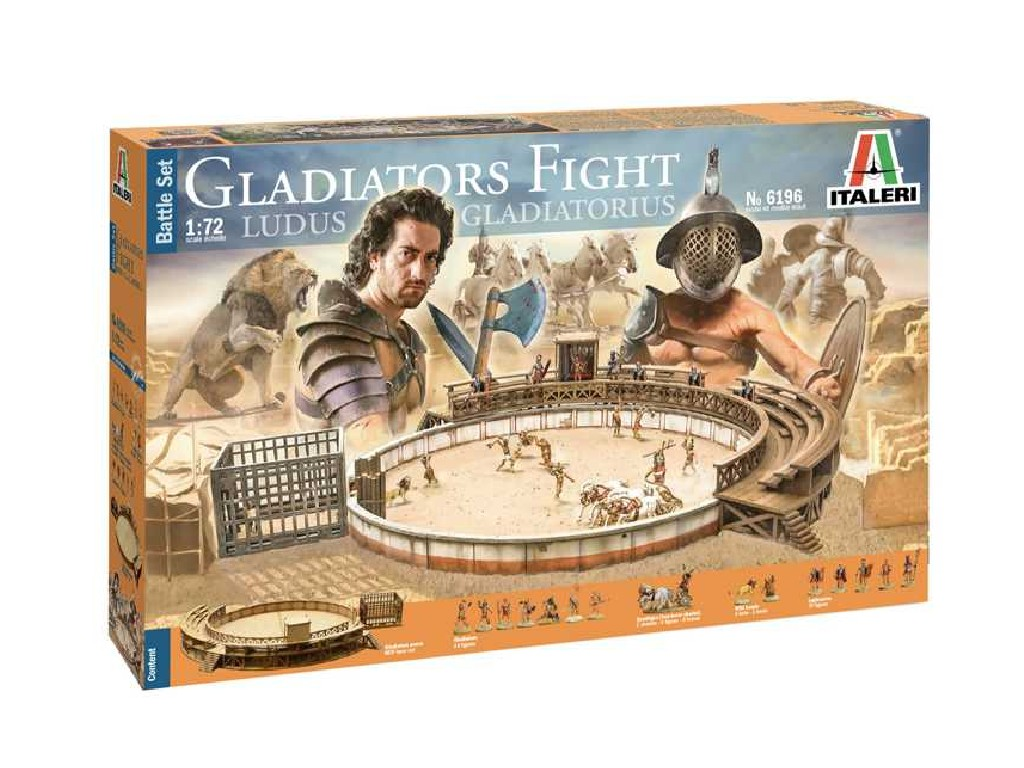 1/72 Model Kit diorama 6196 - Gladiators fight