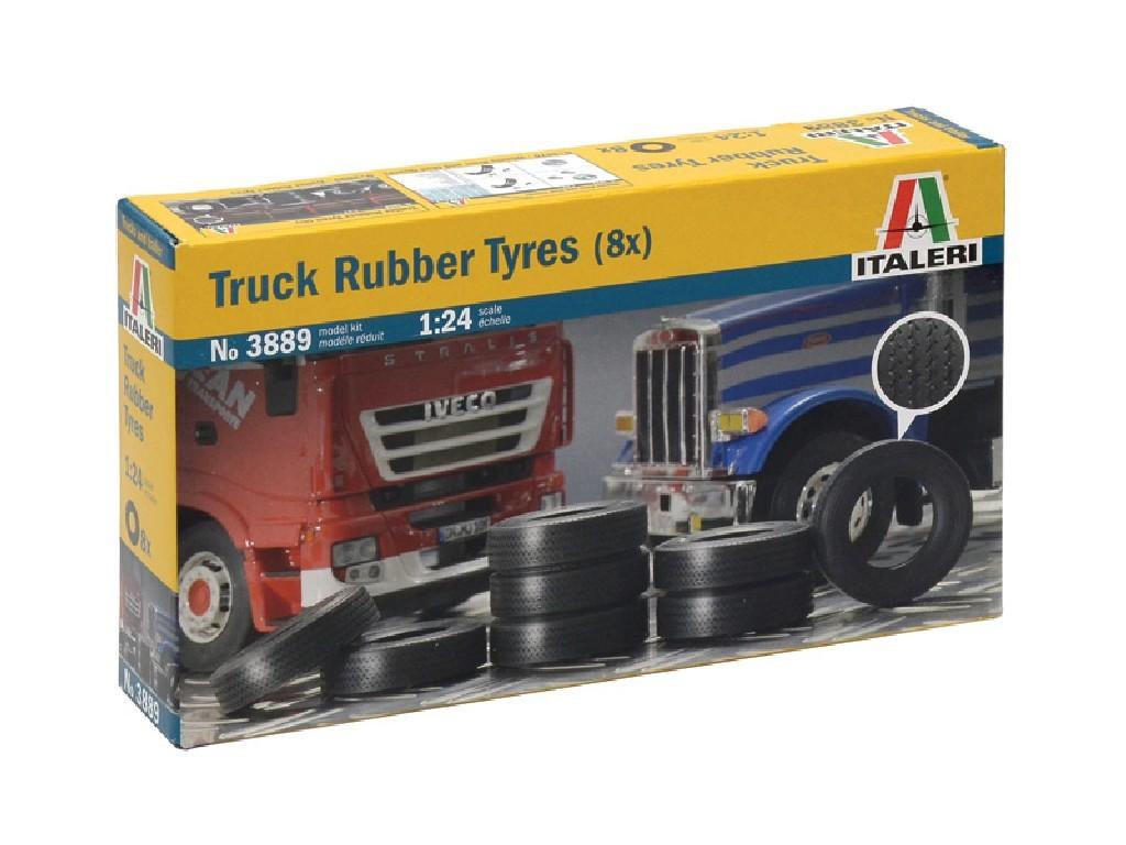 1/24 Plastikový model - doplňky 3889 - TRUCK RUBBER TYRES (8x)