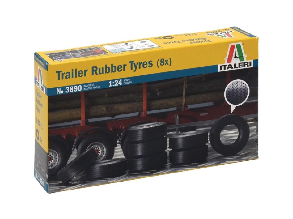 1/24 Plastikový model - doplňky 3890 - TRAILER RUBBER TYRES (8x)