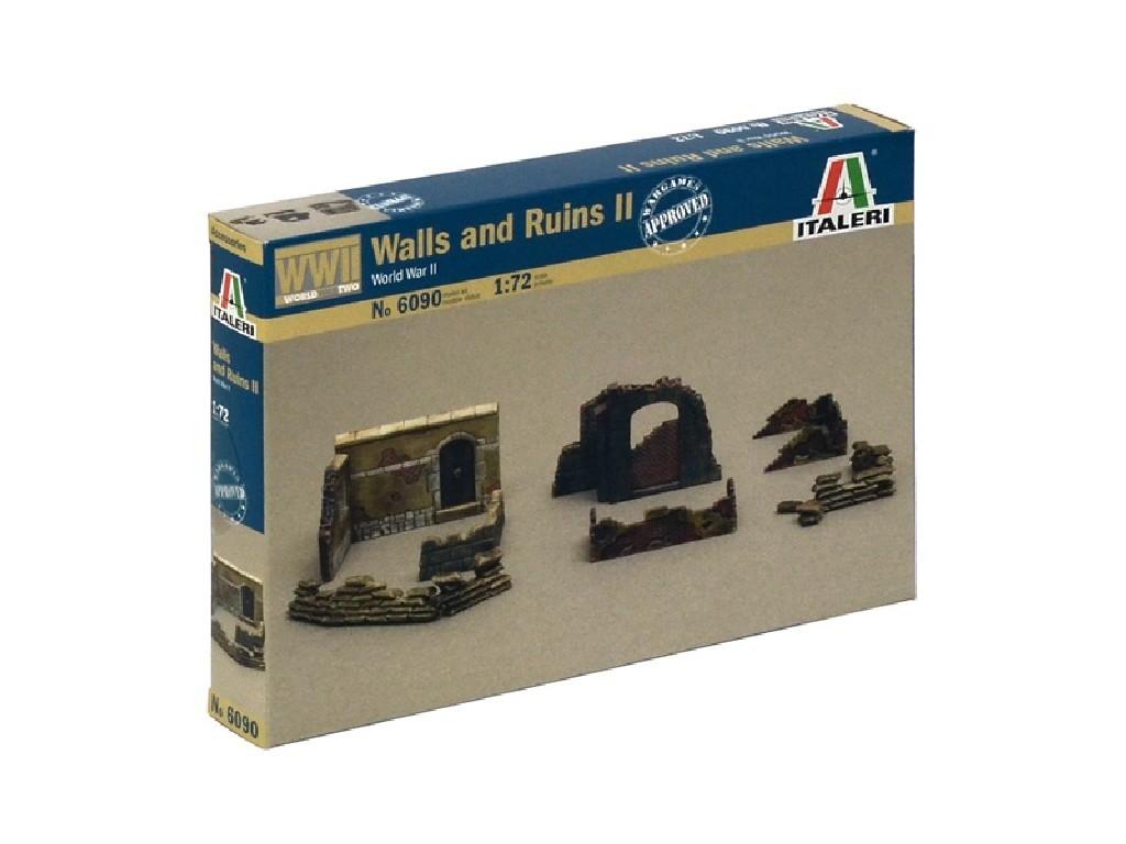 1/72 Model Kit doplňky 6090 - WALLS AND RUINS II