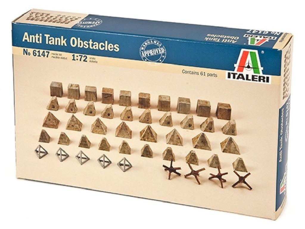 1/72 Model Kit doplňky 6147 - Anti tank obstacles