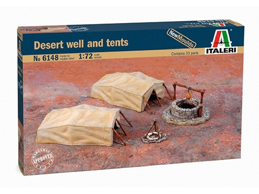 1/72 Model Kit doplňky 6148 - Desert Well and Tents