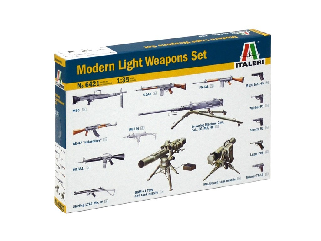 1/35 Model Kit doplňky 6421 - MODERN LIGHT WEAPON SET
