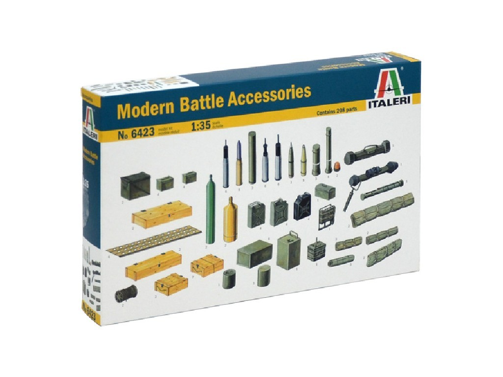 1/35 Model Kit doplňky 6423 - MODERN BATTLE ACCESSORIES