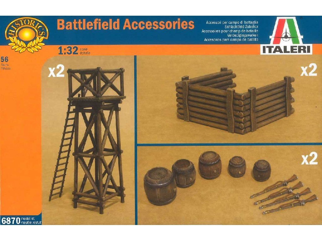 1/32 Model Kit doplňky 6870 - ARTILLERY POSITION ACCESSORIES