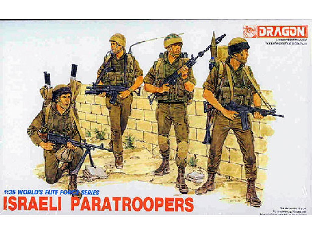 Model Kit figurky 3001 - ISRAELI PARATROOPERS (1:35)