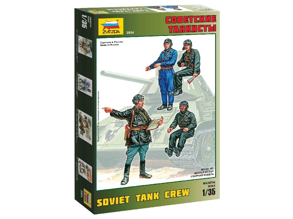 1/35 Plastikový model - figúrky 3504 - Soviet Tank Crew