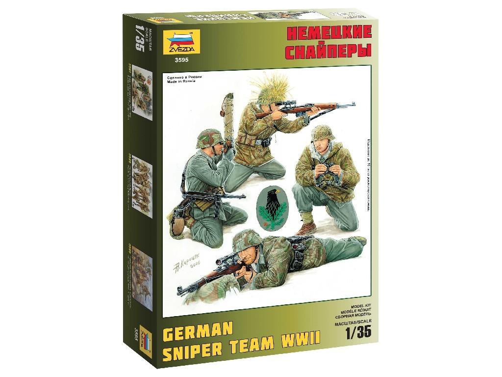 1/35 Plastikový model - figúrky 3595 - German Sniper Team