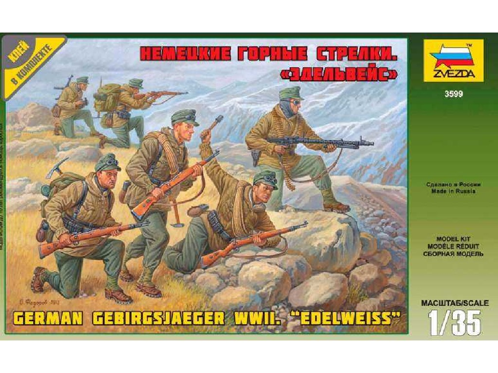 1/35 Plastikový model - figúrky 3599 - German Gebirgsjäger (re-release)
