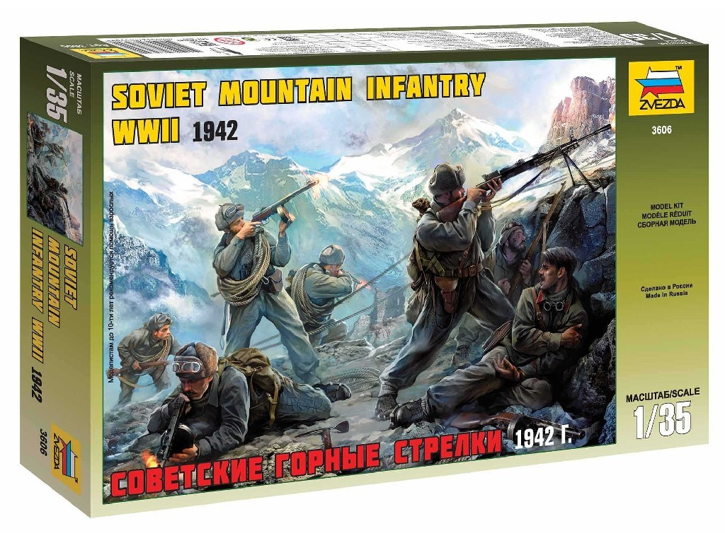 Model Kit figurky 3606 - Soviet Mountain Troops WWII (1:35)