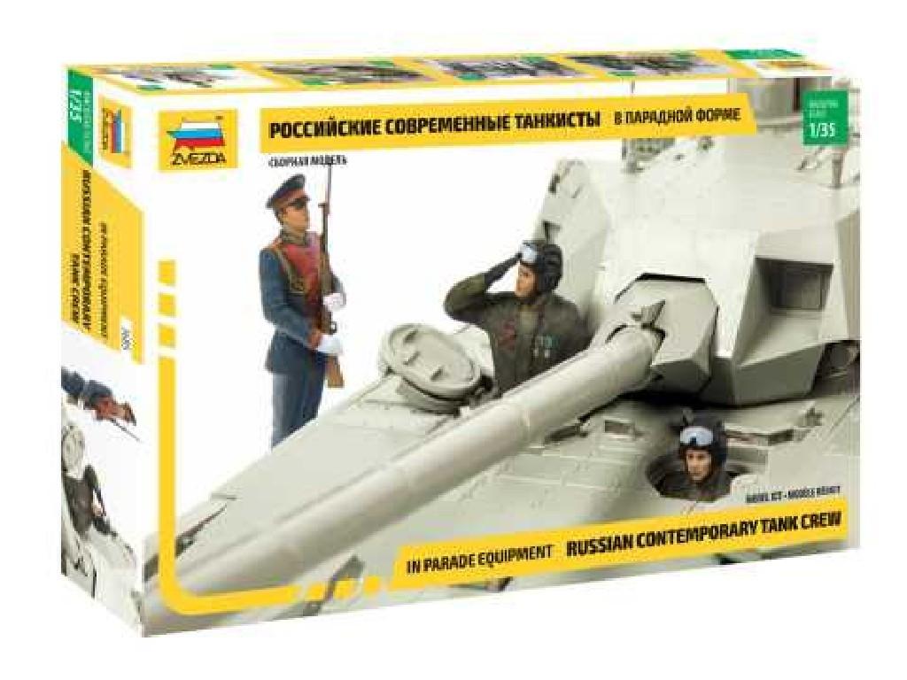 1/35 Plastikový model - figúrky 3685 - Russian Contemporary Tank Crew