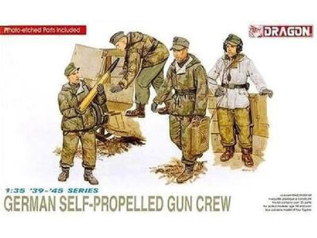 1/35 Plastikový model - figúrky 6016 - GERMAN SELF-PROPELLED GUN CREW