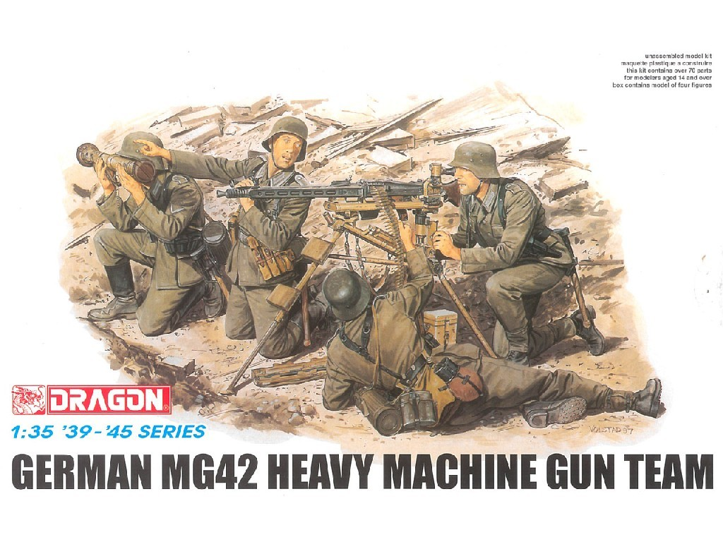 1/35 Plastikový model - figúrky 6064 - GERMAN MG42 HEAVY MACHINE GUN TEAM