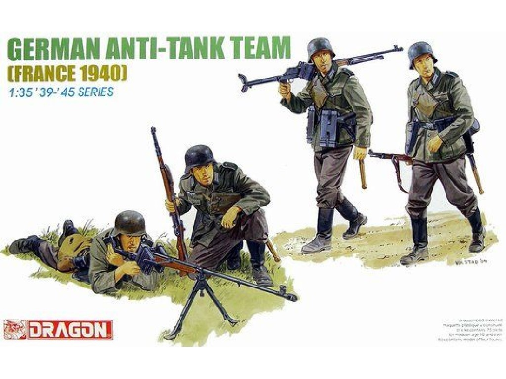 Model Kit figurky 6196 - GERMAN ANTI-TANK TEAM (1:35)
