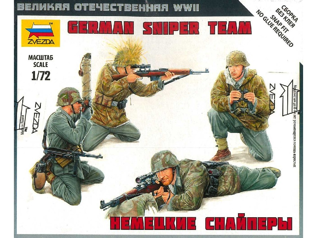 1/72 Plastikový model - figúrky 6217 - German Sniper Team