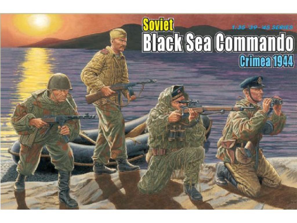 1/35 Plastikový model - figúrky 6457 - SOVIET BLACK SEA COMMANDO, CRIMEA 1944