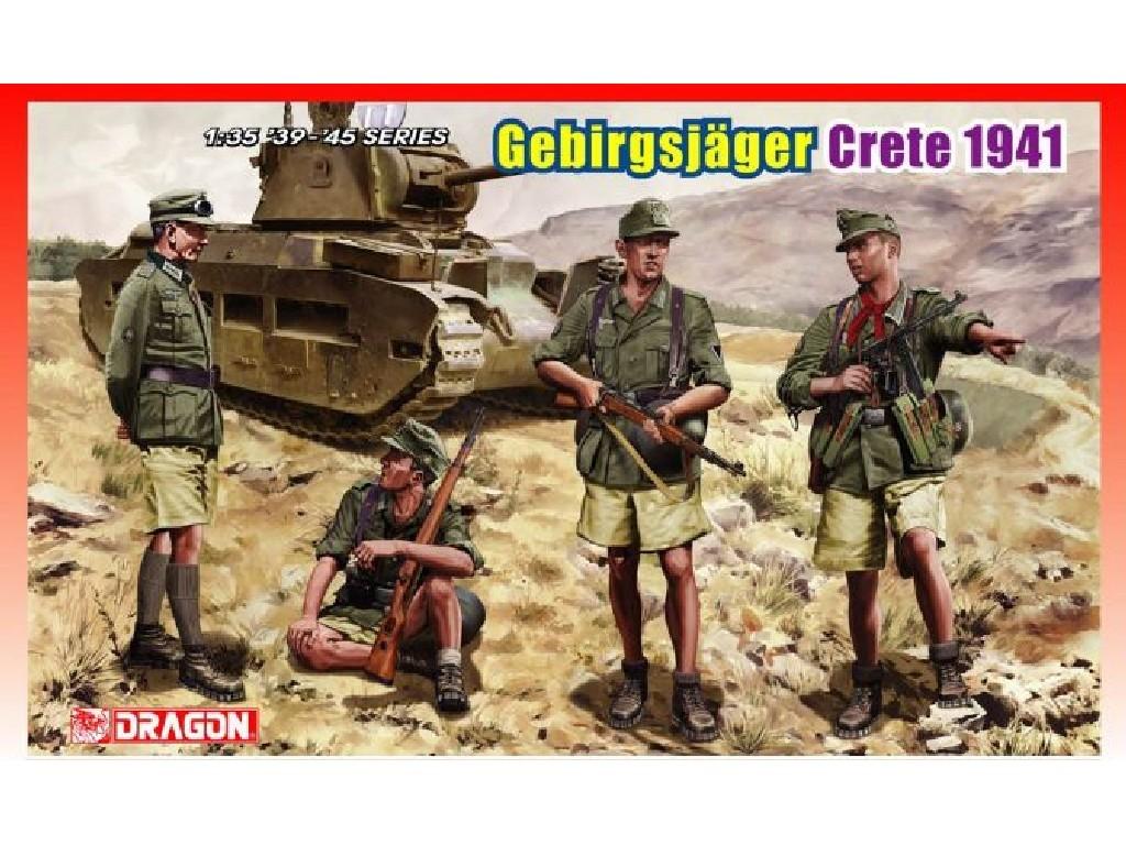 1/35 Plastikový model - figúrky 6742 - GEBIRGSJAGER (CRETE 1941)