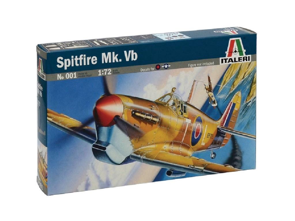 1/72 Plastikový model - lietadlo 0001 - SPITFIRE MK.VB