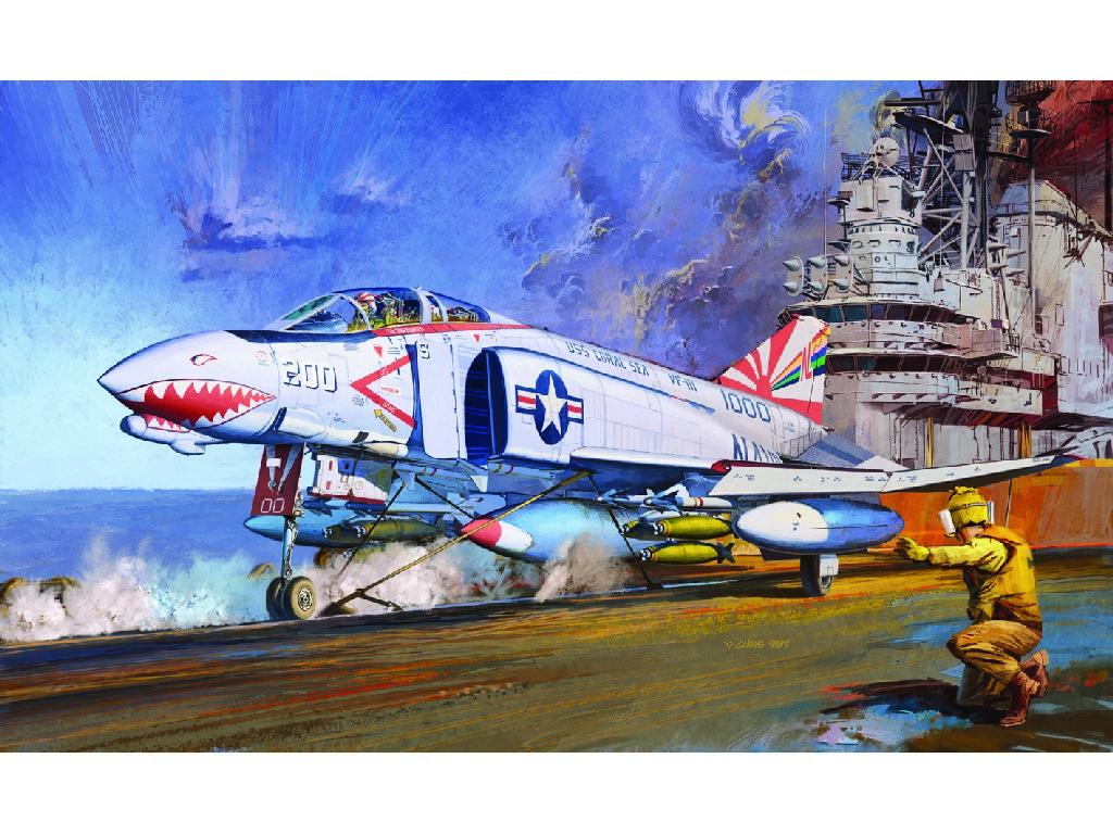 1/48 Plastikový model - letadlo 12232 - F-4B VF-111 SUNDOWNERS MCP