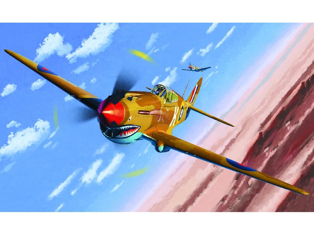 1/48 Plastikový model - letadlo 12235 - TOMAHAWK IIB ACE OF AFRICAN FRONT :LE